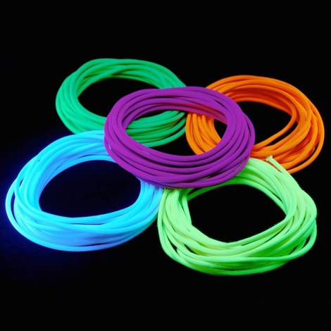 Blacklight neon touwen set 25m