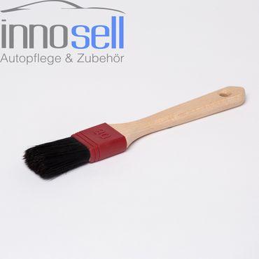 Flachpinsel metallfrei rostfrei 6. Stärke 30 mm vollverklebt Holzstiel Pinsel