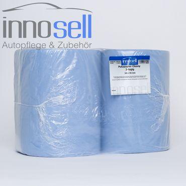 Innosell Papierrolle Putzpapier 3 lagig fusselarm High Quality 38x38 - 2 Rollen