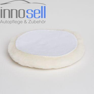 Innosell echtes Polier-Lammfell Klett Polierfell Polierhaube 185 mm - 2 Stück – Bild 3