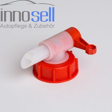 Abfüllhahn, Ausgießer, Dosierer, Auslaufhahn Kanister 5+10L, DIN51, 23mm Mündung