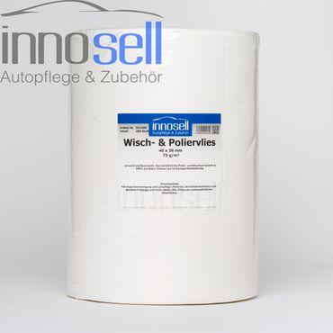Poliervlies Poliertuch Vlies - Rolle mit 400 Abrissen (40 x 38 cm), 75 g/m2