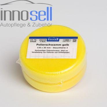 Innosell Polierschwamm 135 x 30 mm gelb fest hochwertig + langlebig - 2 Stück