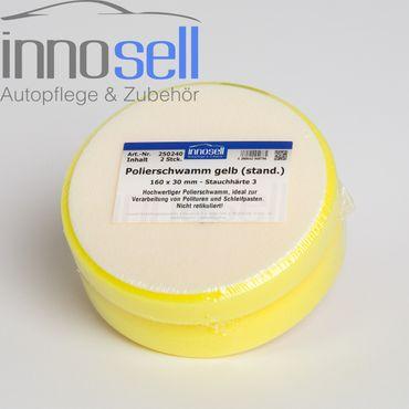 Innosell Polierschwamm 160 x 30 mm gelb fest langlebig - 2 Stück – Bild 1