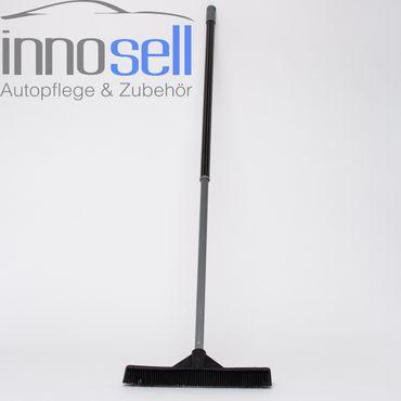 Sweepa Gummibesen Industriebesen mit Abziehlippe 34 cm - mit Teleskopstiel
