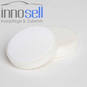 Innosell Polierschwamm Klett weiß, für feine Polierarbeiten 135 x 30mm, 2er Set – Bild 2
