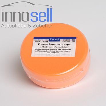 Innosell Polierschwamm 160 x 30 mm orange fest hochwertig + langlebig - 2 Stück – Bild 1