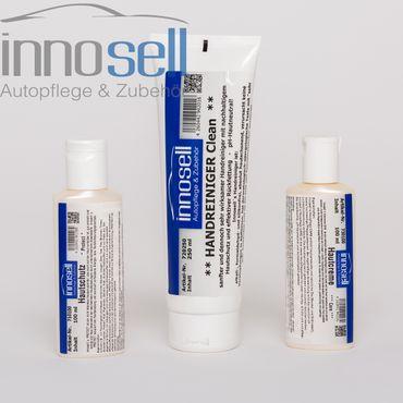 Innosell Hautschutz 100 ml + Hautpflege 100 ml + Handreiniger 250 ml - Mini-Set
