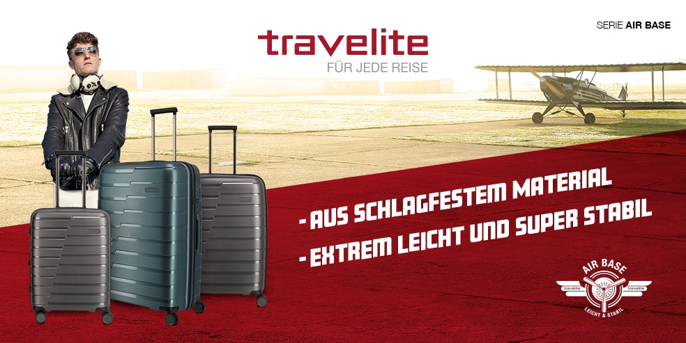 trolley Koffer travelite airbase Hartschale Reisegepäck.