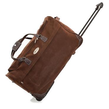 meinReisekoffer Trolley, Reisetasche braun, hochwertige Lederoptik 79,5L 2,7 Kg