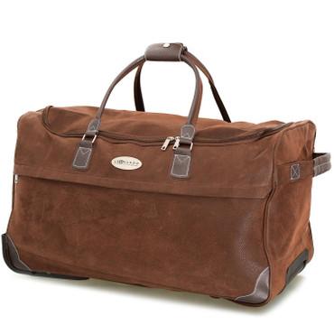 meinReisekoffer Trolley, Reisetasche braun, hochwertige Lederoptik 79,5L 2,7 Kg – Bild 3