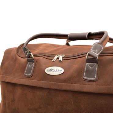 meinReisekoffer Trolley, Reisetasche braun, hochwertige Lederoptik 79,5L 2,7 Kg – Bild 5