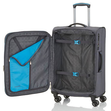 Travelite CROSSLITE Anthrazit 77cm Stoff Trolley – Bild 3