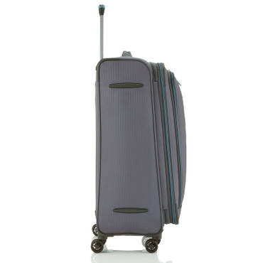 Travelite CROSSLITE Anthrazit 77cm Stoff Trolley – Bild 5