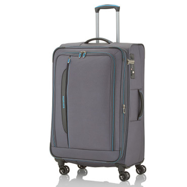 Travelite CROSSLITE Anthrazit 77cm Stoff Trolley – Bild 1