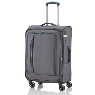 Travelite CROSSLITE Anthrazit 67cm Stoff Trolley – Bild 1
