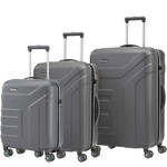 Travelite VECTOR Anthrazit 3 tlg. Trolley Set