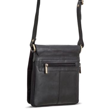 Packenger HJALTI Messenger Bag Umhängetasche Schwarz Ledertasche Handtasche – Bild 2