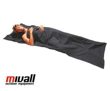 Mivall Baumwollinlett Decke grau 220x75cm – Bild 1