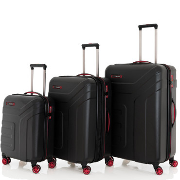 Travelite VECTOR Schwarz 3 tlg. 4w Trolley Set – Bild 1