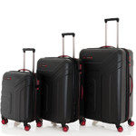 Travelite VECTOR Schwarz 3 tlg. 4w Trolley Set