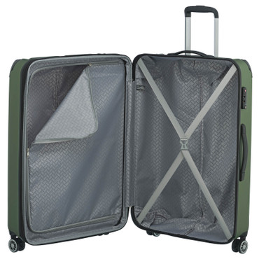 travelite CITY 4w Grün 77cm Trolley  – Bild 3