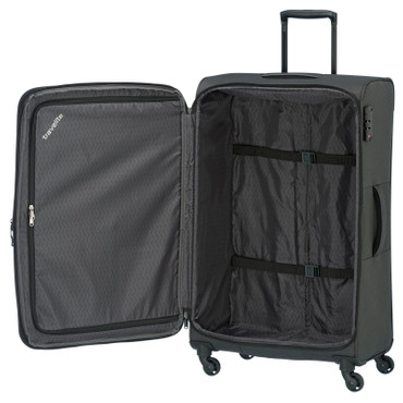 Travelite DERBY Anthrazit 77cm Stoff Trolley – Bild 3