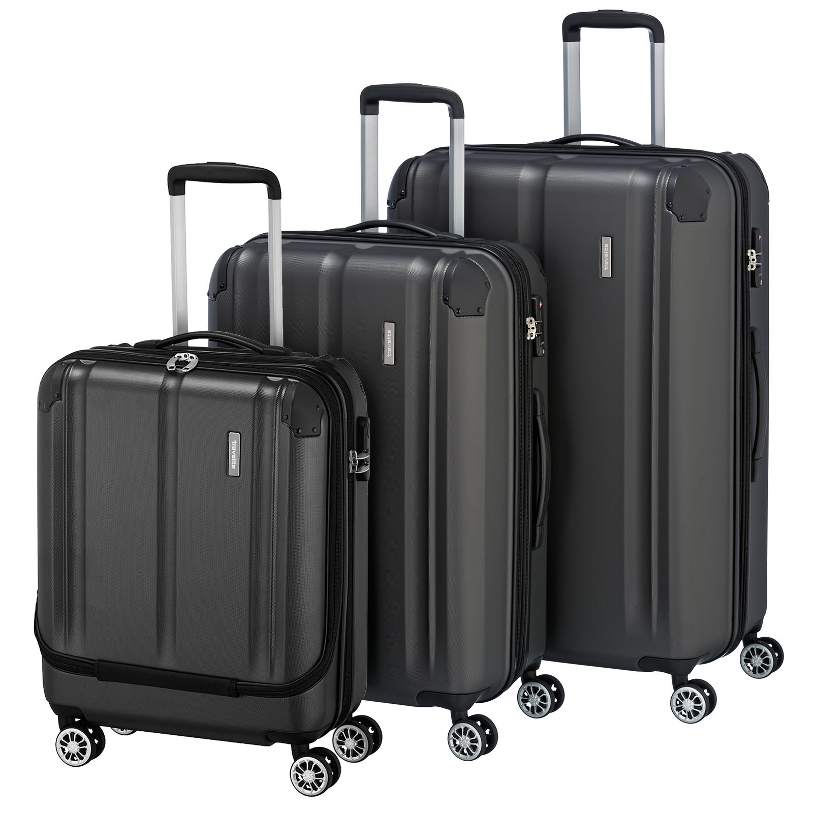 travelite-city-anthrazit-3-tlg-4w-trolley-set-mit-vortasche