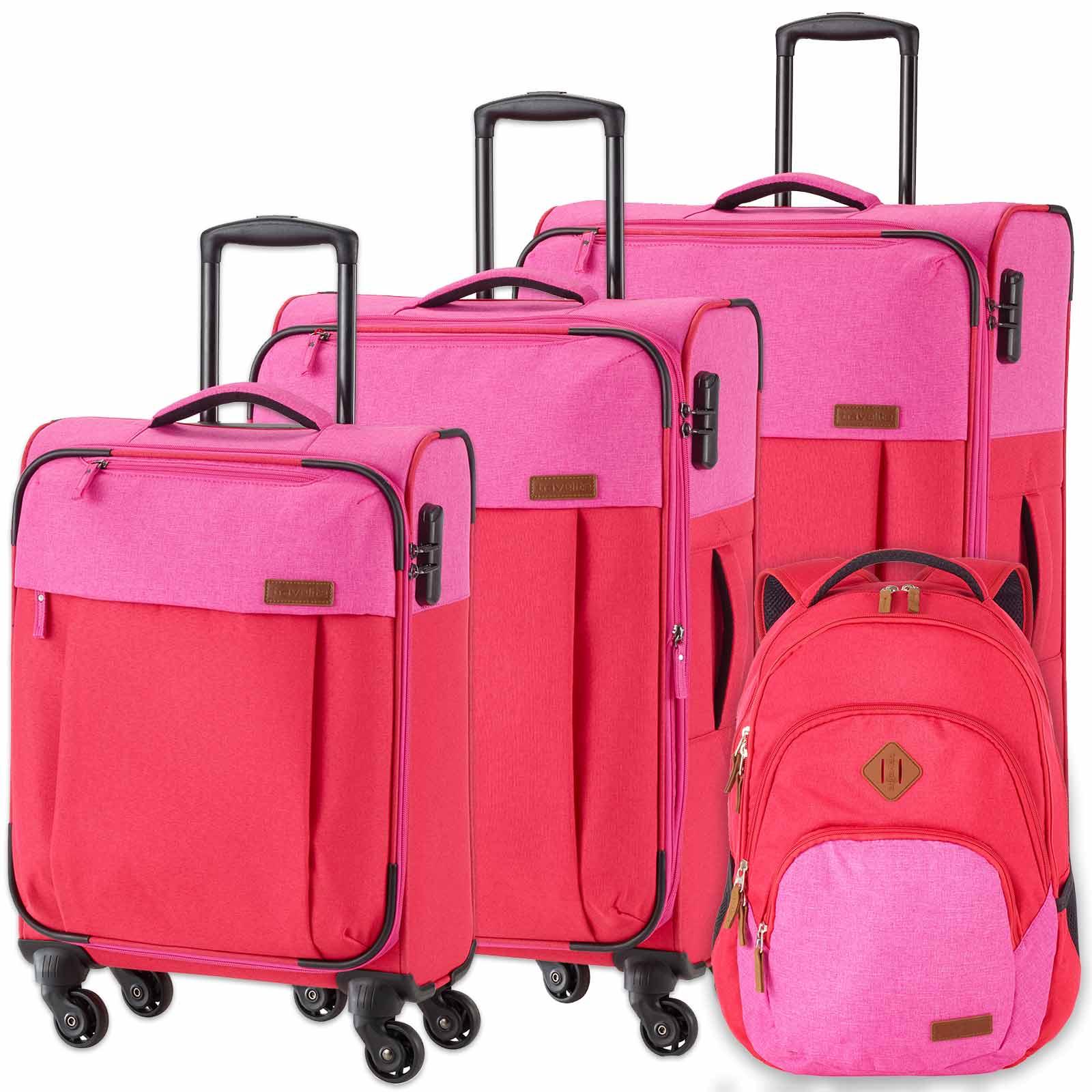 travelite-neopak-4-tlg-trolley-set-mit-rucksack-rot-pink