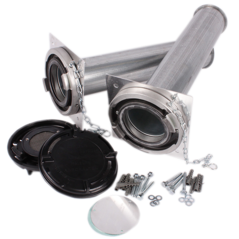 2 Stück Pellet-Erdungsband-Schellen V2A Erdungsrohrschelle Füllleitung Pelletl
