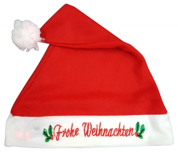 Text Frohe Weihnachten.W127 Nikolausmutze Weihnachtsmutze Mit Text Frohe Weihnachten Leuchtend