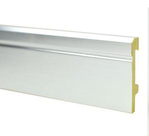 Sockelleiste PST 80mm Silber ALUimitation 2,5m – Bild 1