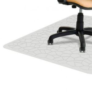 Bodenschutzmatte für Hartböden, Parkett, Laminat, PVC, transparent, 120x90cm, Stärke 1,5mm – Bild 1