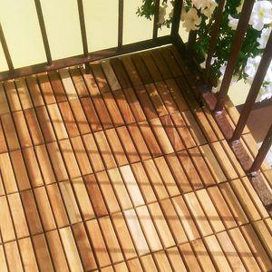 Terrassenfliese Teak 30x30x24mm - 16 Bretter  – Bild 6