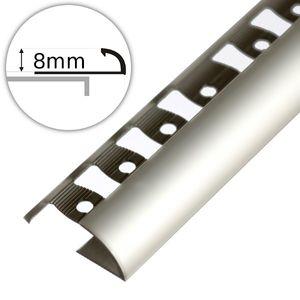 Winkelabschlussprofil Aspro - Silber Alu 8mm 250cm  – Bild 1