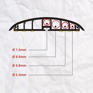 Leitungsführungskanal Kabelkanal selbstklebend, 74mm, PVC, Ulme F6 1m – Bild 5