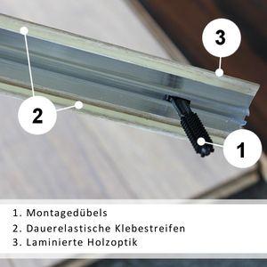 Höhenausgleichsprofil selbstklebend Eiche 3P Aluminium 41mm 1,8 Meter – Bild 3