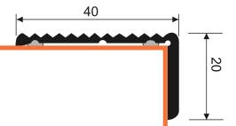 Treppenstufenprofil Aspro, 40x20mm, Champagner 04, 0,9m – Bild 3
