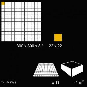 Braun Glasmosaik 300x300x8 Nr 91 – Bild 2