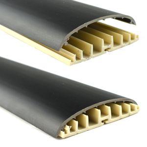 Leitungsführungskanal Kabelkanal selbstklebend, 74mm, PVC, Schwarz W6 1m – Bild 2