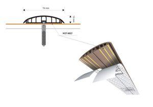 Leitungsführungskanal Kabelkanal selbstklebend, 74mm, PVC, Eiche K5 1m – Bild 5