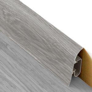 Sockelleiste Prexa 54, PVC, Eiche Grau W1, 2,5m – Bild 1
