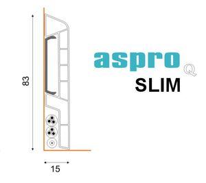 Sockelleiste ASPRO Q Eiche 6T 83mm - hohe Qualität – Bild 3