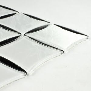 Weiß und Schwarz Glasmosaik 316x316X4mm Quadratisch Oval 030 – Bild 2