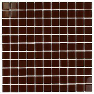 Kastanienfarbe Glasmosaik 300x300x4 Nr 13 Mosaikfliesen – Bild 2