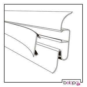 Hohe Fußleiste 82mm! Hohe Sockelleiste PVC metallisch 61  - 2,5m – Bild 2