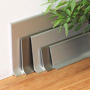Aluminium Sockelleiste Aspro 44,Silber, 2,5m – Bild 4