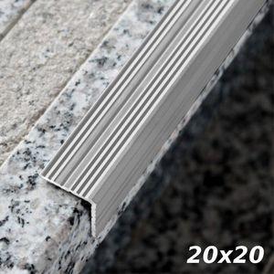 Treppenstufenprofil Aspro 20x20mm Silber ALU 180cm – Bild 1