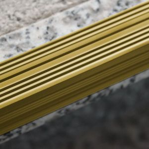 Treppenstufenprofil Aspro 20x20mm Gold ALU 135cm – Bild 2