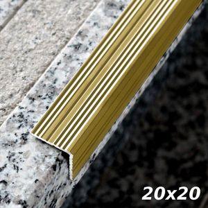 Treppenstufenprofil Aspro 20x20mm Gold ALU 180cm – Bild 1
